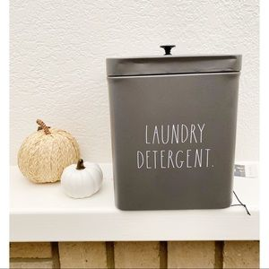 Gray Rae Dunn Laundry Detergent Canister